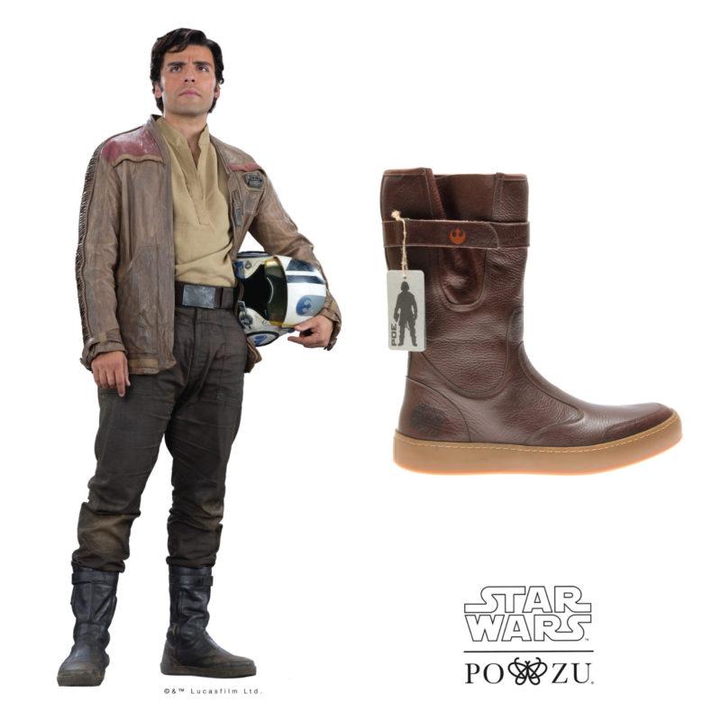 Po-Zu x Star Wars Poe Dameron boot preview
