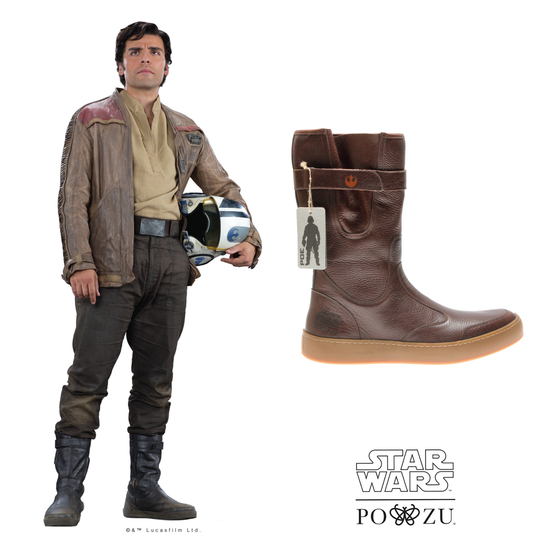pozu x star wars poe dameron boot preview the kessel