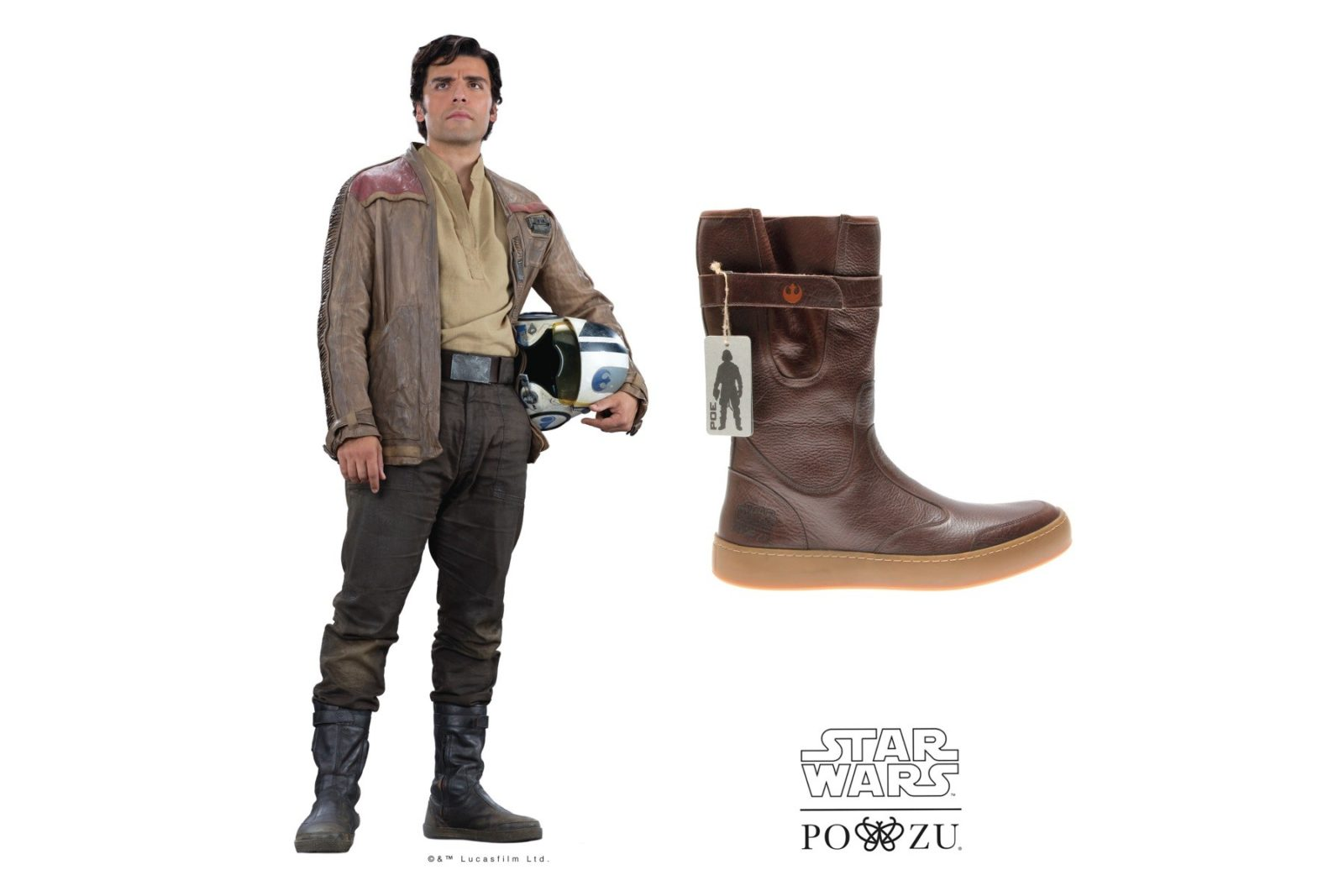 Po-Zu x Star Wars Poe Dameron boot preview!