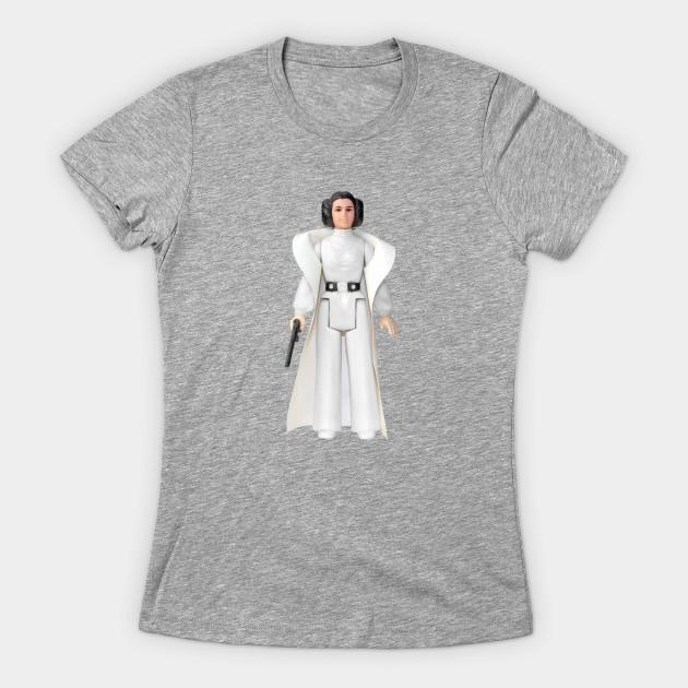 Women's Star Wars Princess Leia vintage action figure t-shirt on Teepublic