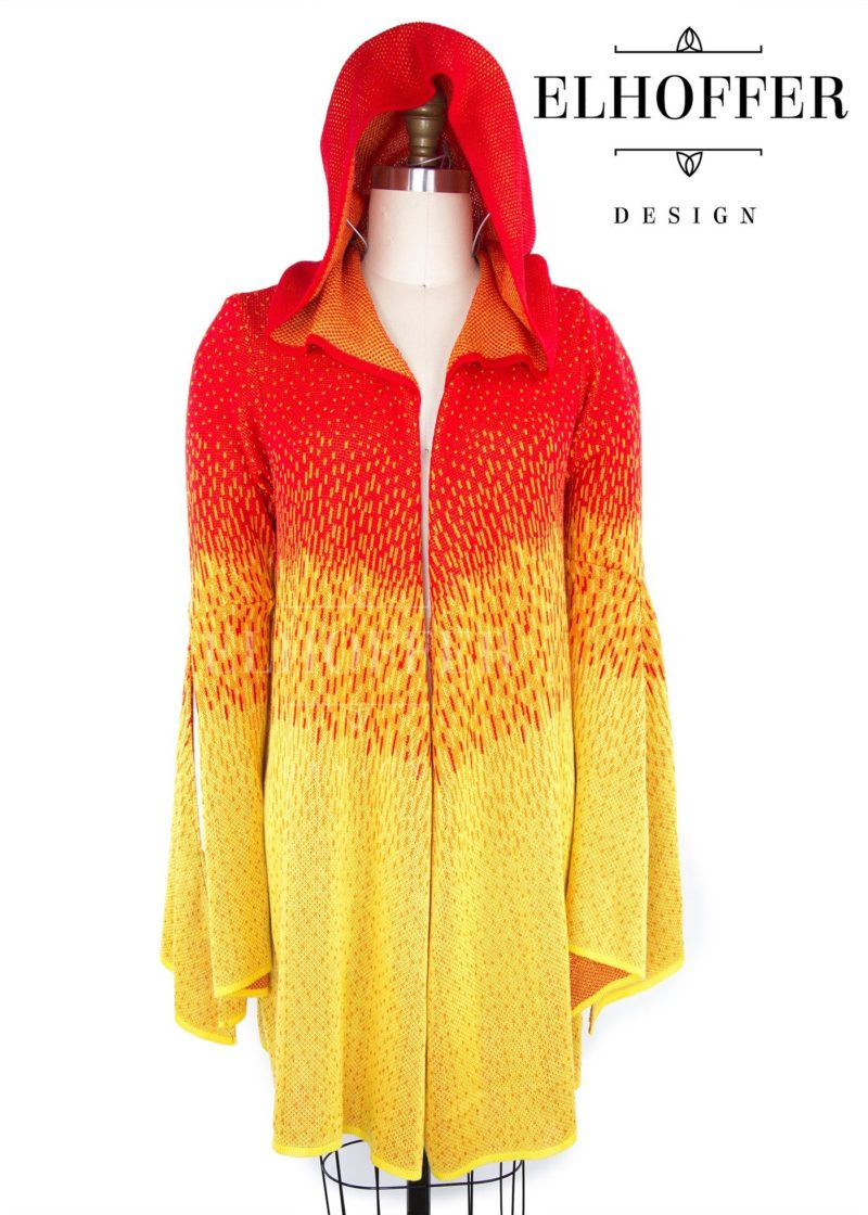 Star Wars Padme' Amidala inspired Galactic Sunset Hooded Cardigan by Elhoffer Design