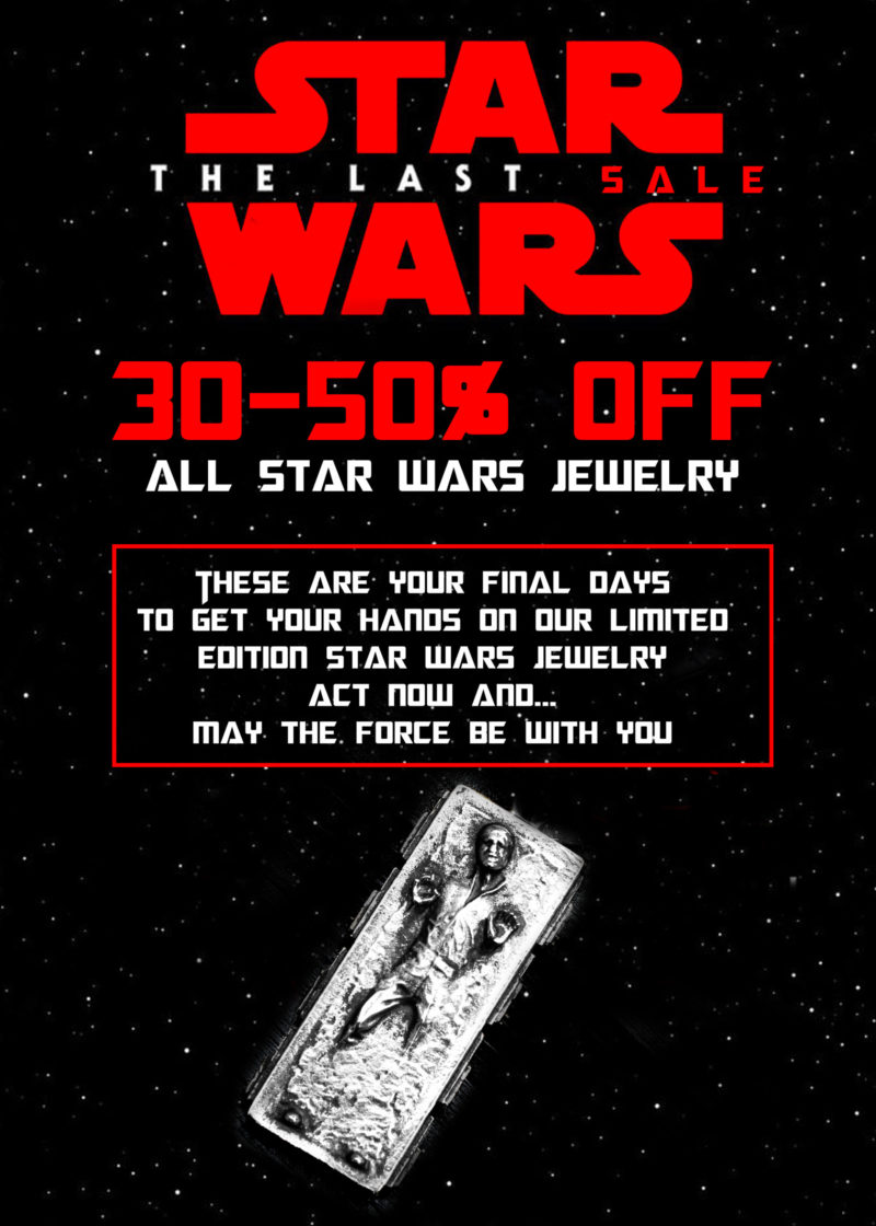 Final sale on Han Cholo x Star Wars jewelry