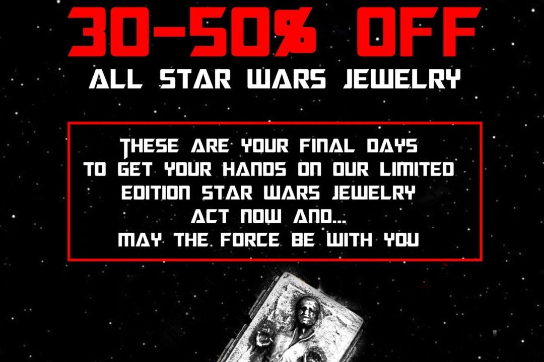 Final sale on Han Cholo x Star Wars jewelry