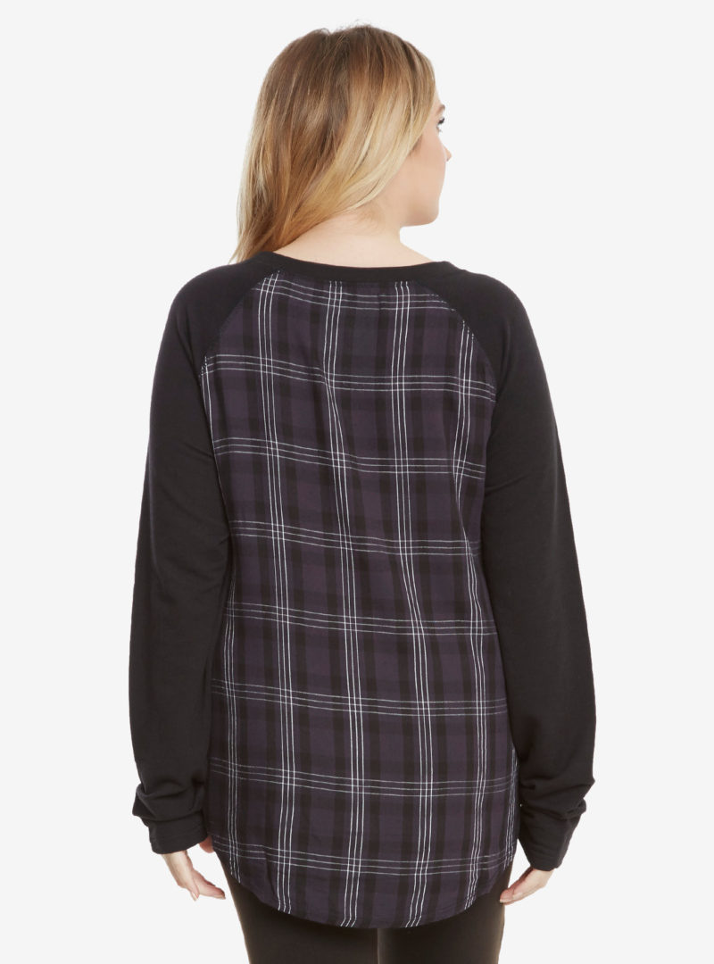 Her Universe x Star Wars Galactic Empire plaid back raglan top