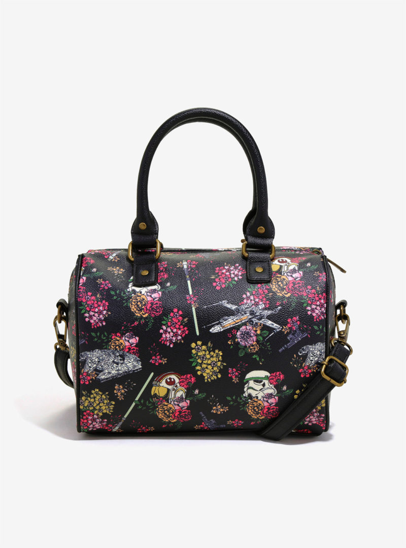 Loungefly x Star Wars Stormtrooper Floral Wars barrel handbag at Her Universe