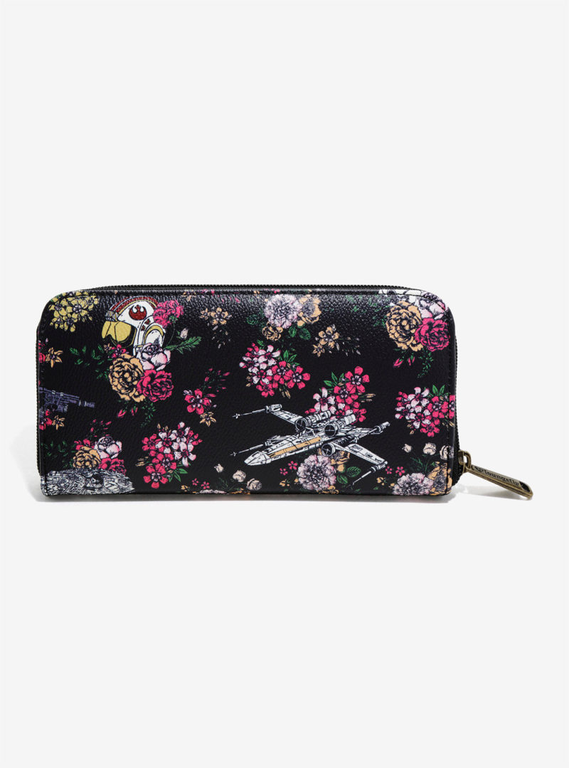 Loungefly x Star Wars Stormtrooper Floral Wars zip-up wallet at Her Universe