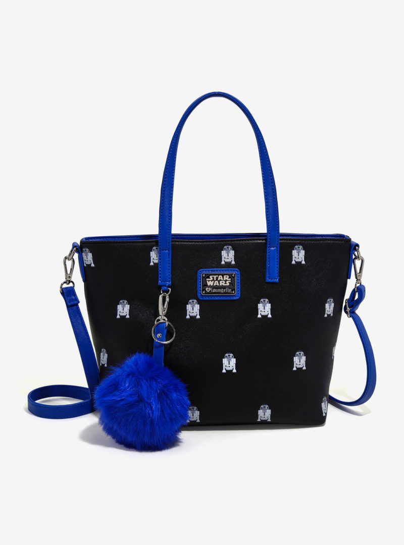 Loungefly x Star Wars R2-D2 pom pom charm tote bag at Her Universe