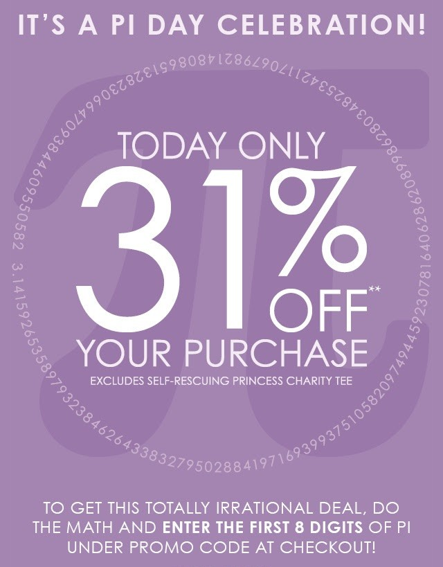 Her Universe Pie Day sale 2017