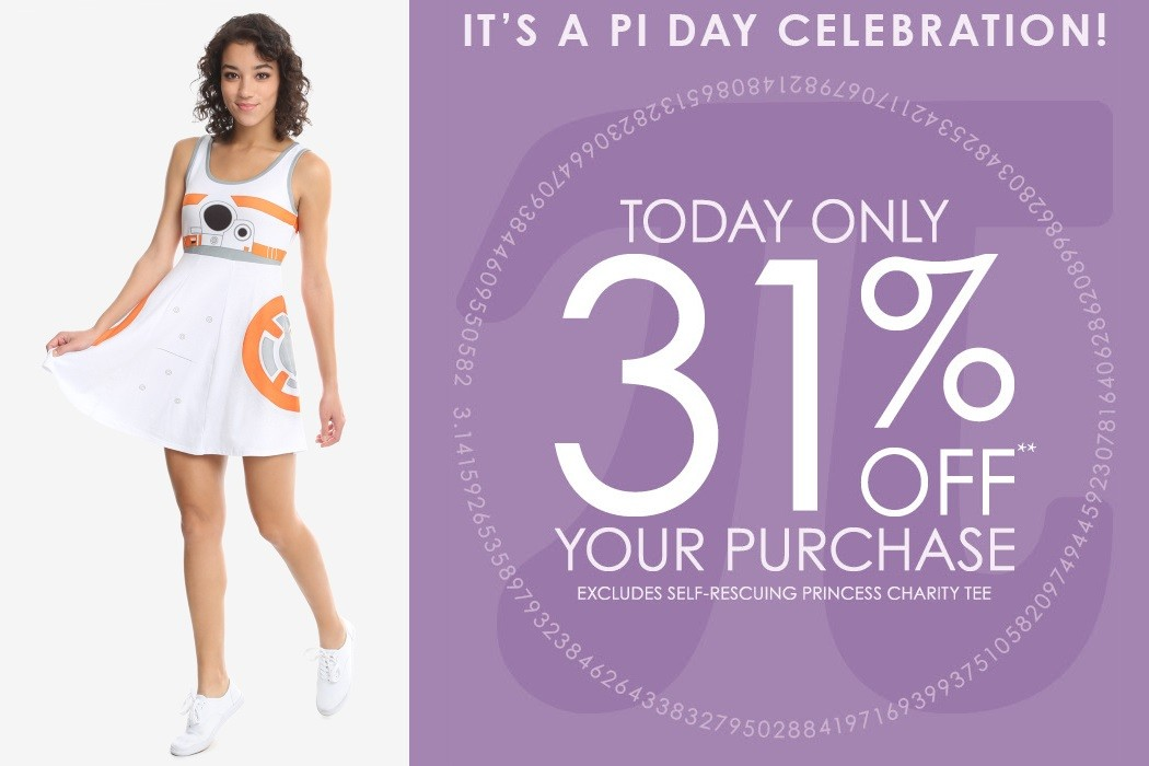 Her Universe Pi Day sale!