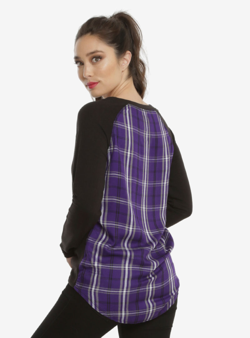 Her Universe x Star Wars Darth Vader Shadow plaid back raglan top