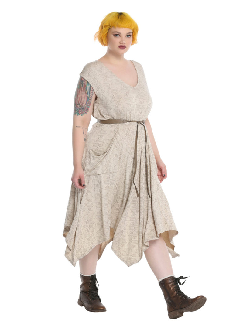 Women's plus size Her Universe x Star Wars The Force Awakens Rey dress at Hot Topic