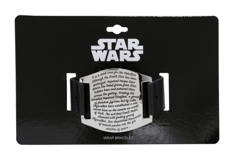 Love And Madness x Star Wars opening crawl cuff bracelet at Hot Topic