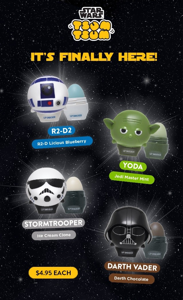 Lipsmacker x Star Wars Tsum Tsum lip balms