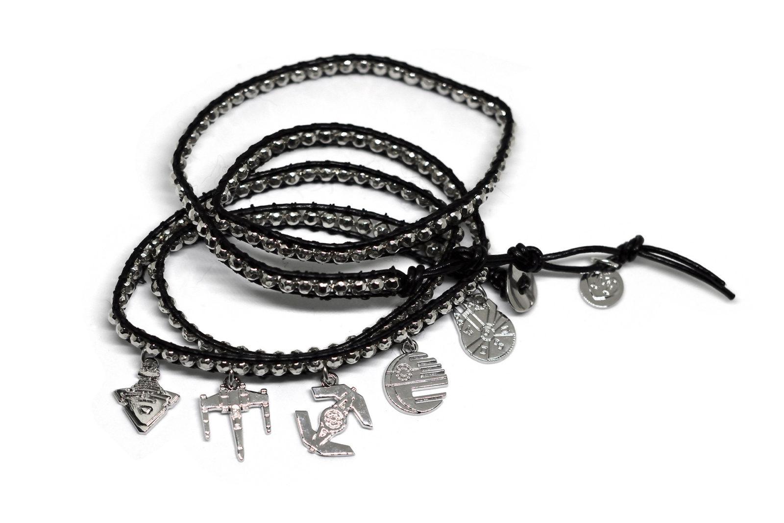 Love And Madness starships wrap bracelet