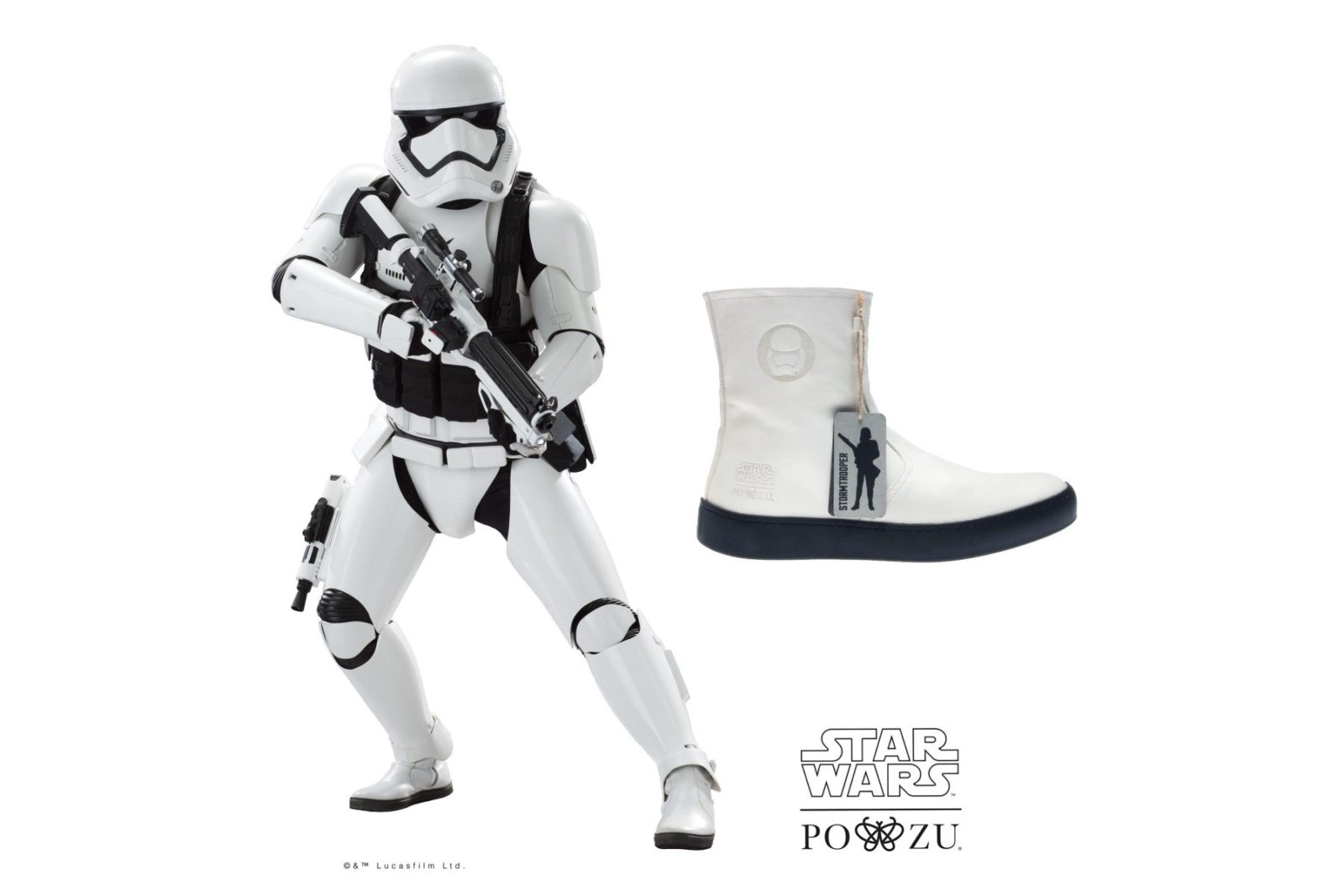 Po-Zu x Star Wars Stormtrooper boot preview!