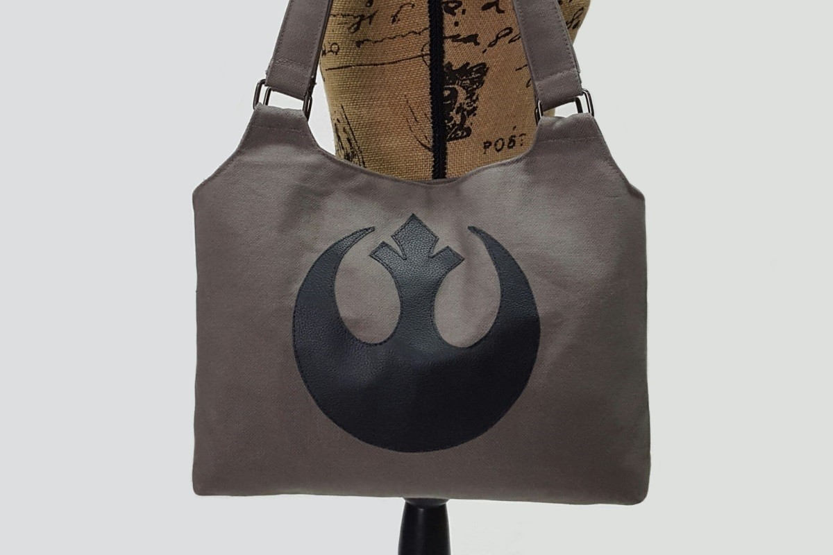Fan made Rebel symbol handbag on Etsy