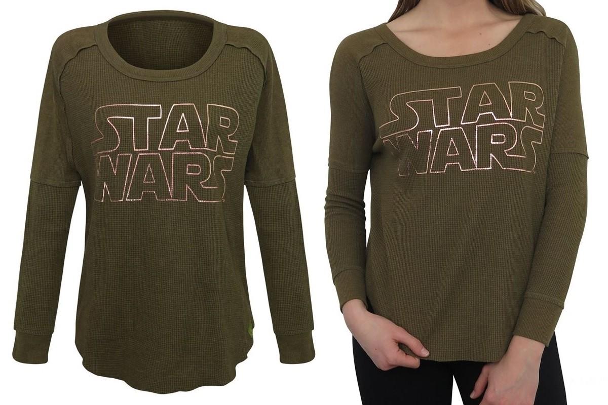 Women 39 s star wars logo thermal shirt the kessel runway for Thermal shirt for women