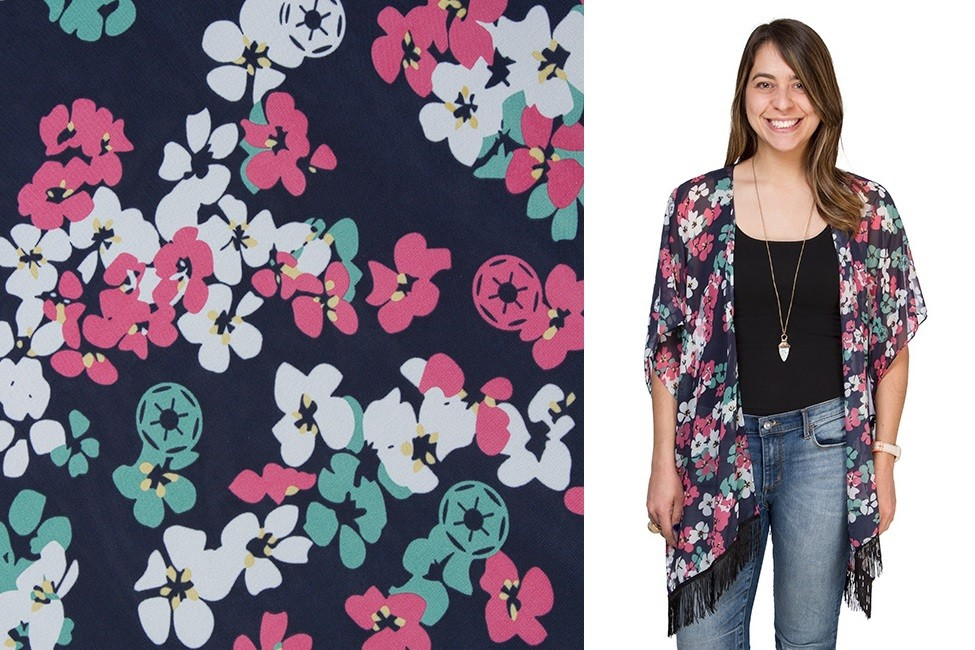 Floral Empire kimono wrap at ThinkGeek