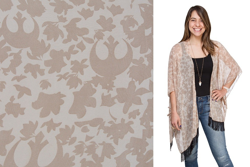 Floral Rebel kimono wrap at ThinkGeek