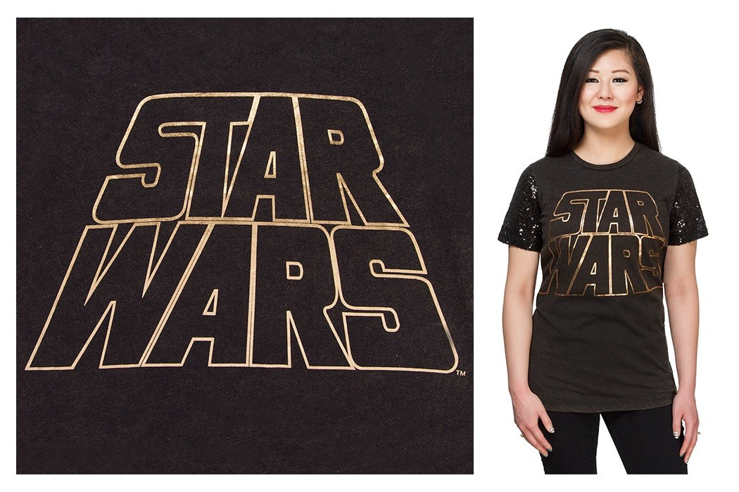 Star Wars sequin sleeve tee at ThinkGeek