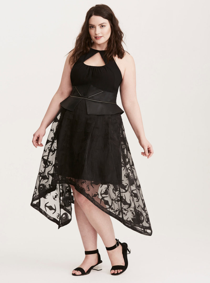 Women's Star Wars Darth Vader plus size peplum sharkbite gown at Torrid