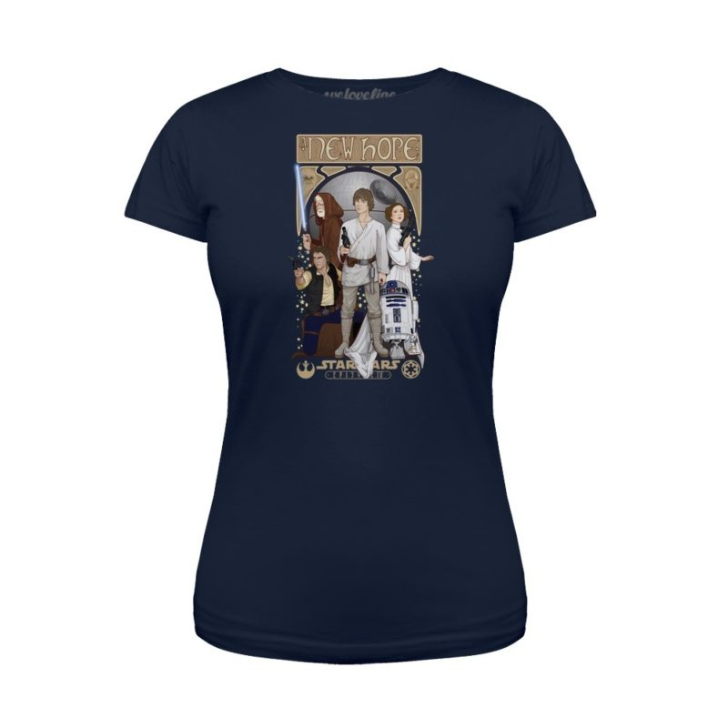 Women's Star Wars A New Hope Nouveau artwork t-shirt at We Love Fine