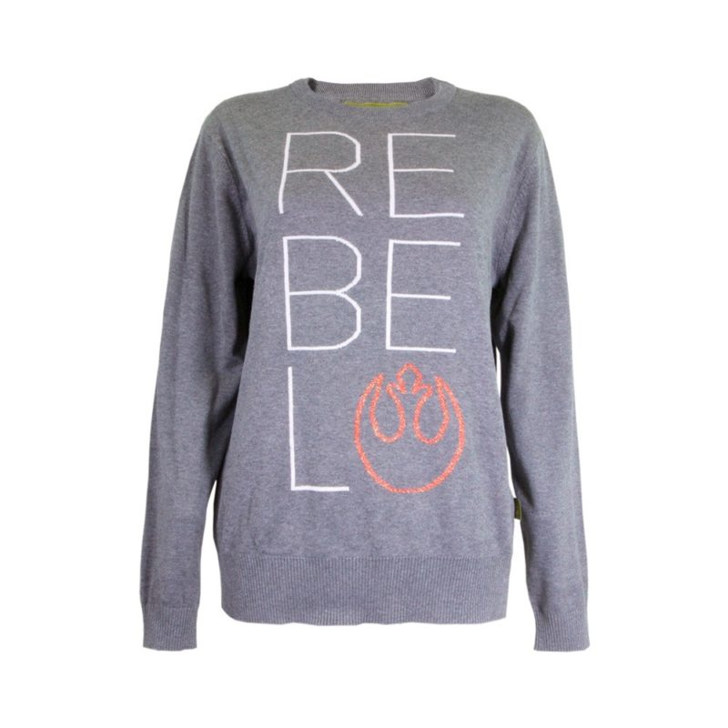 Women's Star Wars Rebel text logo sweater at We Love Fine