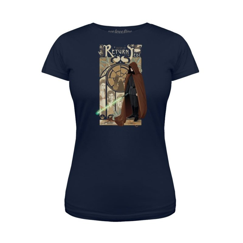 Women's Star Wars Return Of The Jedi Nouveau artwork t-shirt at We Love Fine