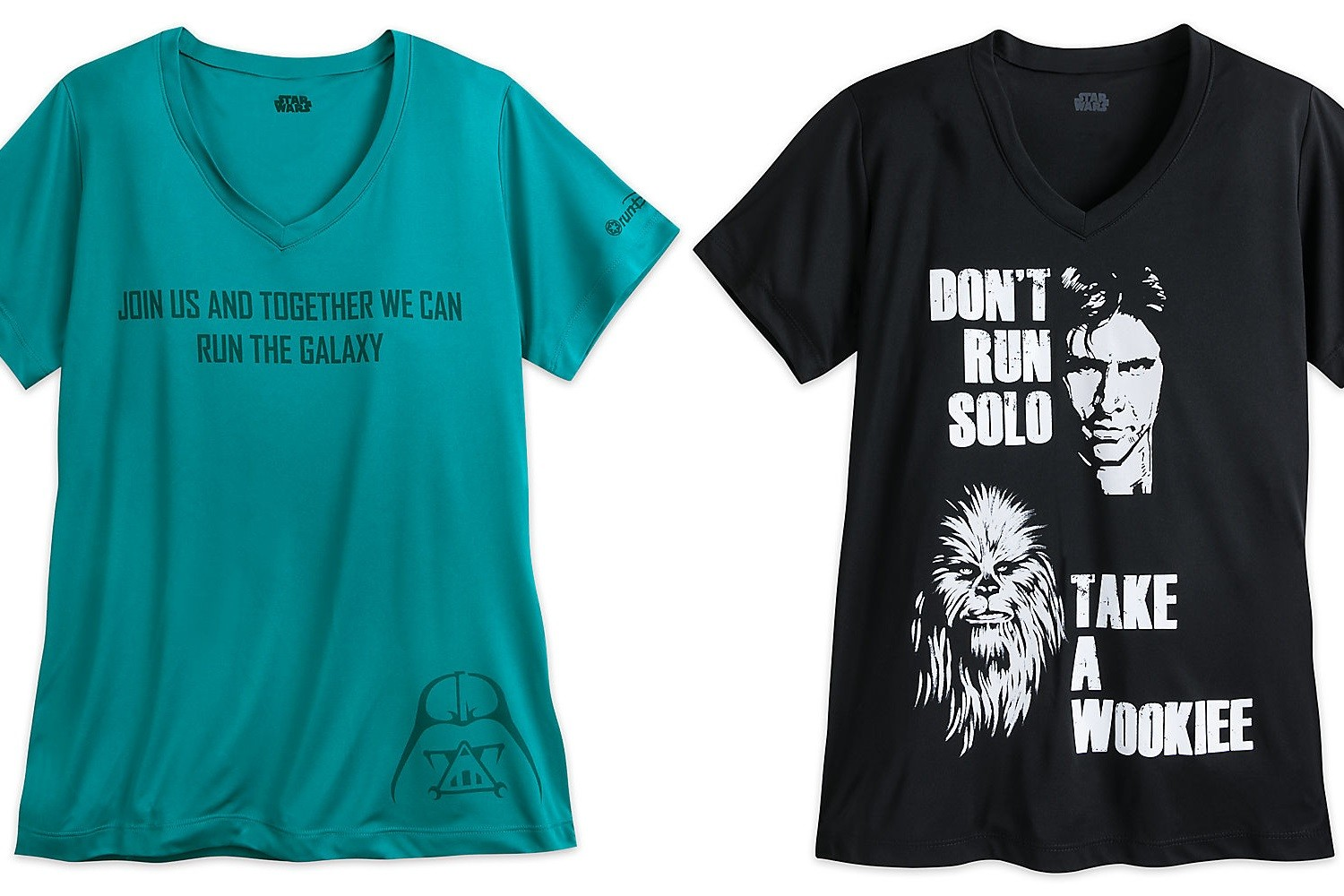 New women's Run Disney Star Wars t-shirts