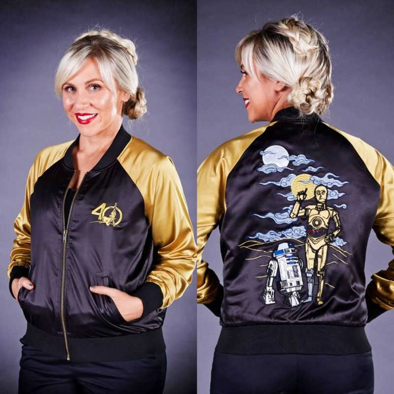 Her Universe x Star Wars C-3PO R2-D2 souvenir jacket at Celebration Orlando
