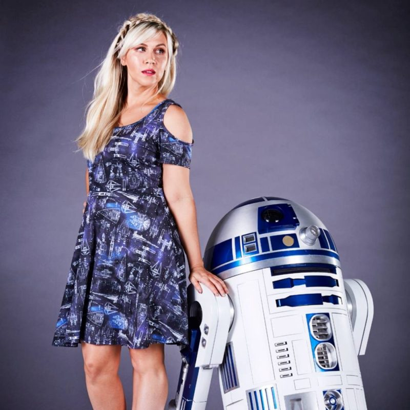 Her Universe x Star Wars Starships cold shoulder dress at Celebration Orlando