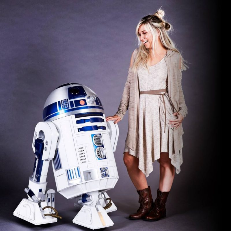 Her Universe x Star Wars The Force Awakens Rey cardigan and dress at Celebration Orlando
