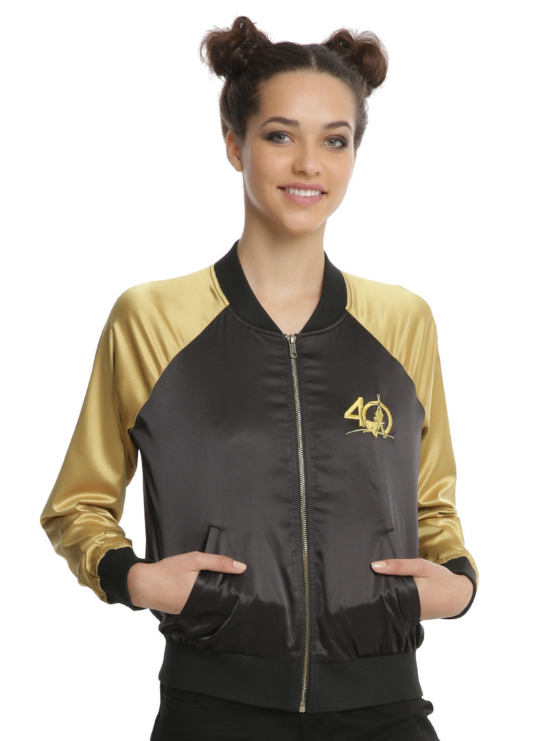 Her Universe x Star Wars C-3PO and R2-D2 embroidered satin souvenir jacket at Hot Topic