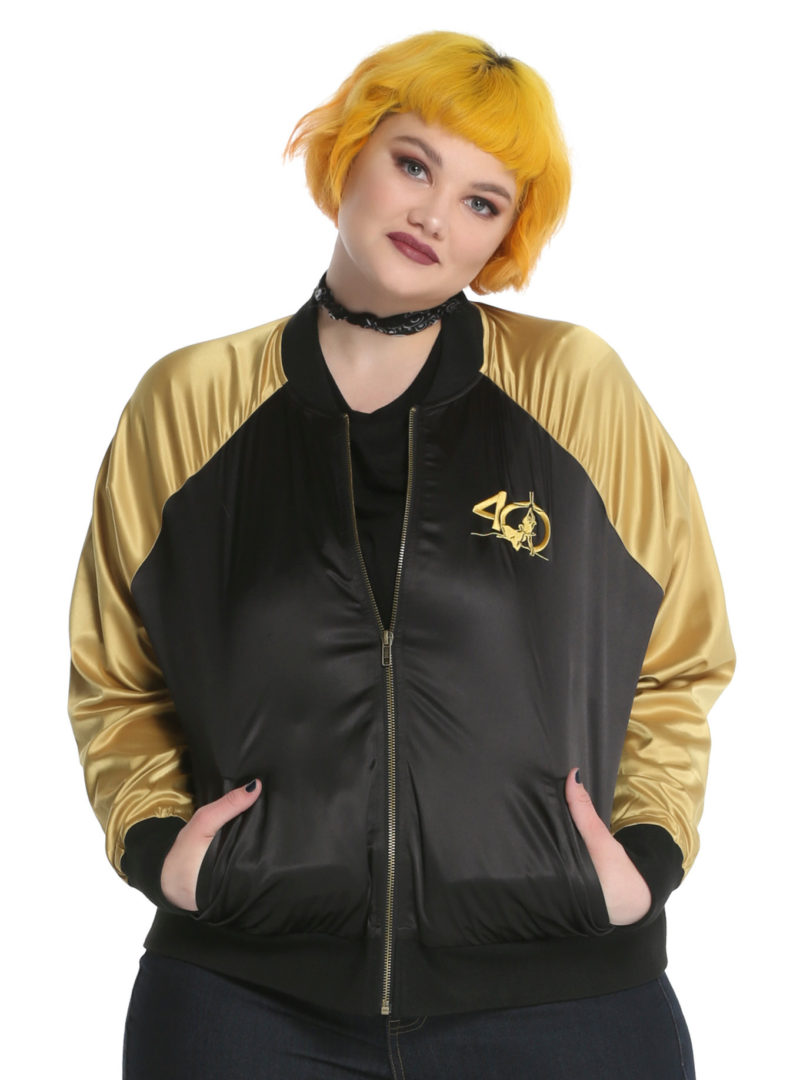 Her Universe x Star Wars C-3PO and R2-D2 embroidered satin souvenir jacket plus size at Hot Topic