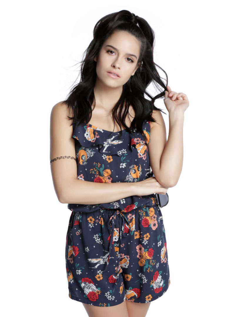 Her Universe x Star Wars Floral Rebellion romper at Hot Topic