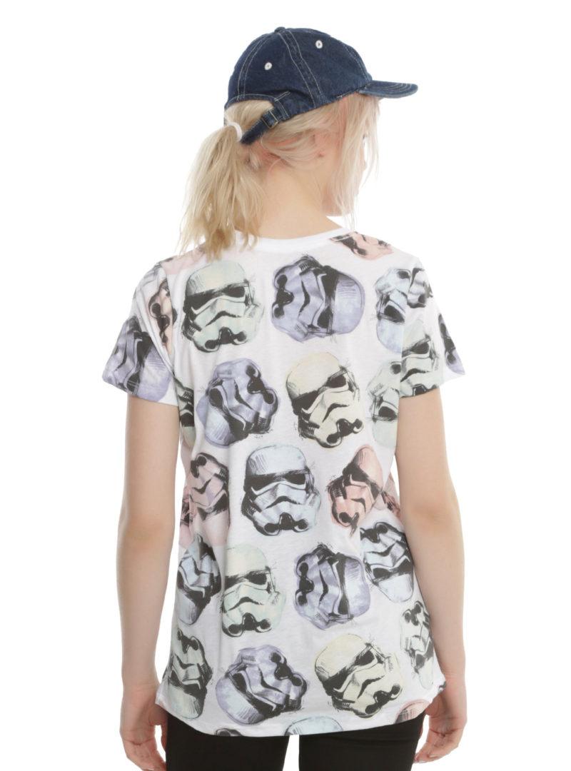 Women's Star Wars Rogue One Stormtrooper helmet t-shirt at Hot Topic