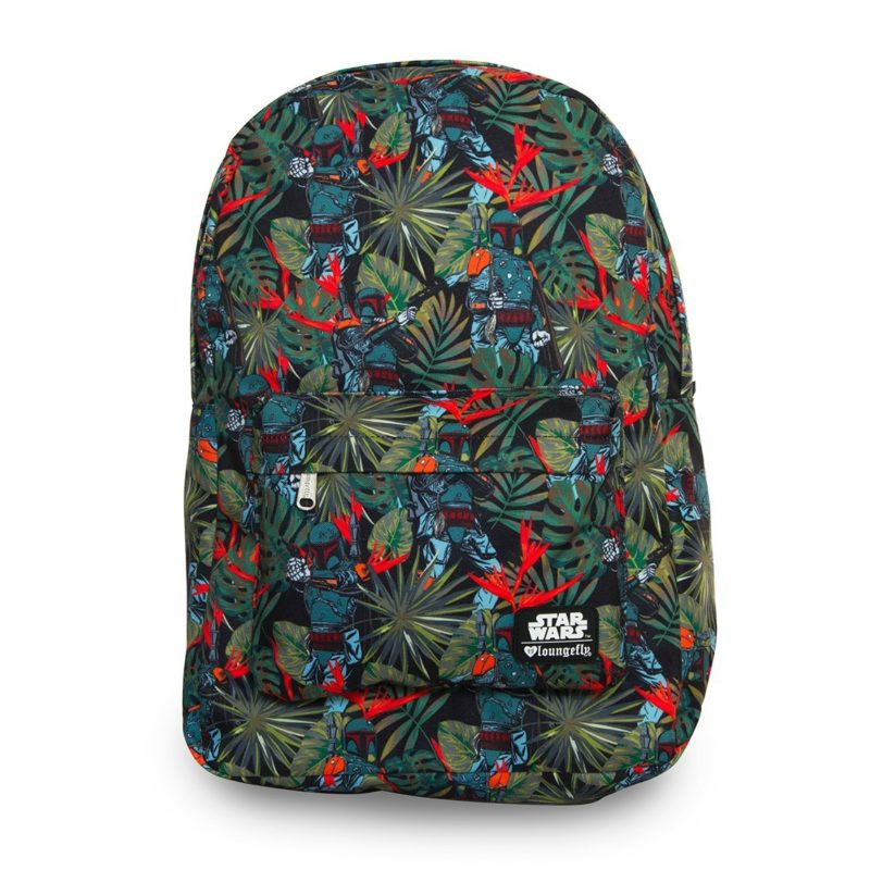 Loungefly x Star Wars Boba Fett Bright Leaves backpack