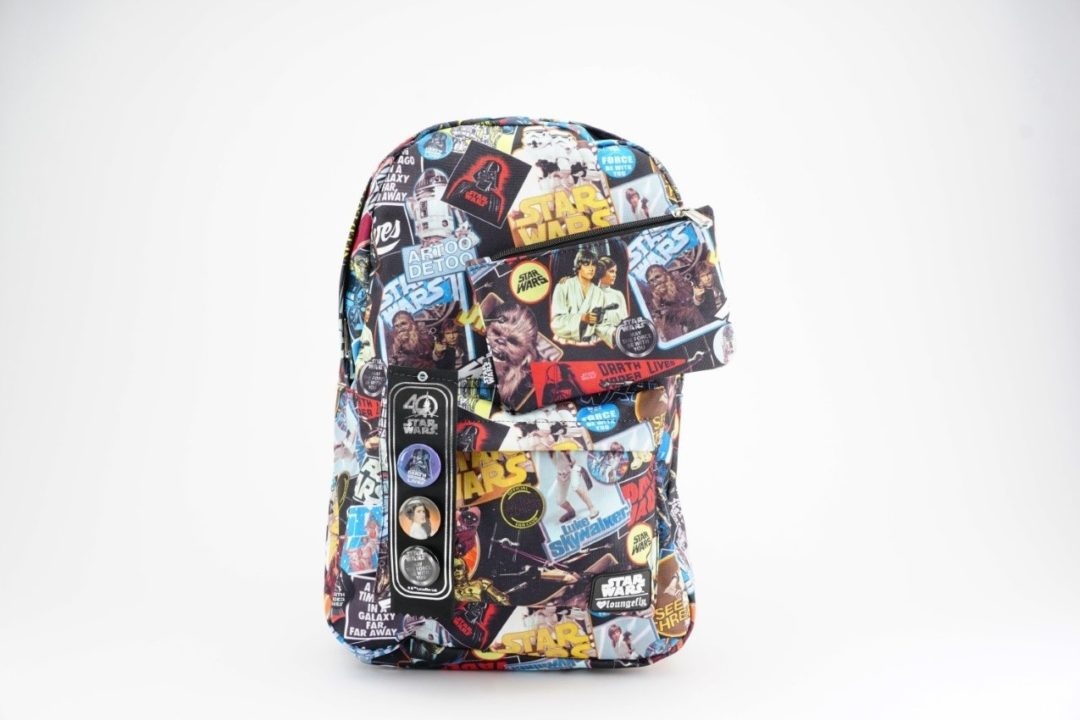 Loungefly x Star Wars 40th Anniversary limited edition backpack with matching pencil case