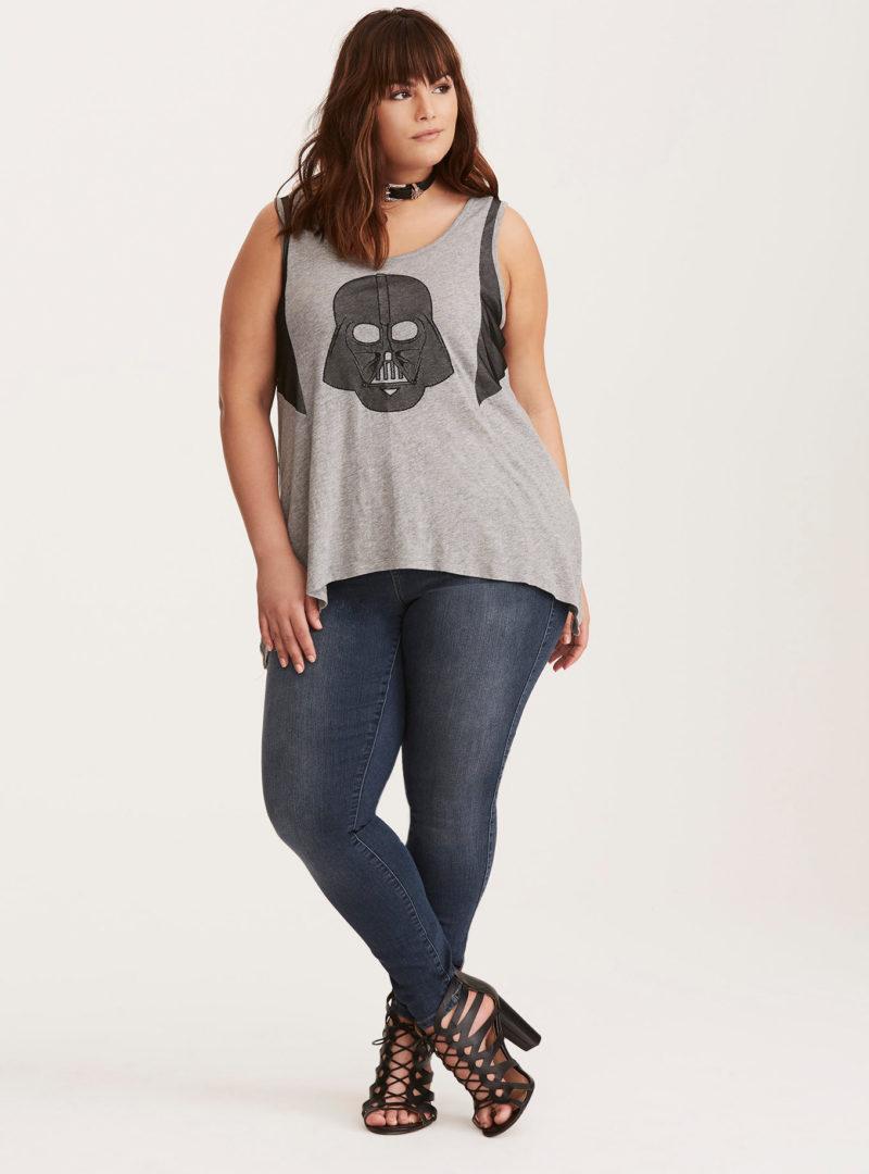 Her Universe x Star Wars Darth Vader mesh inset plus size tank top at Torrid