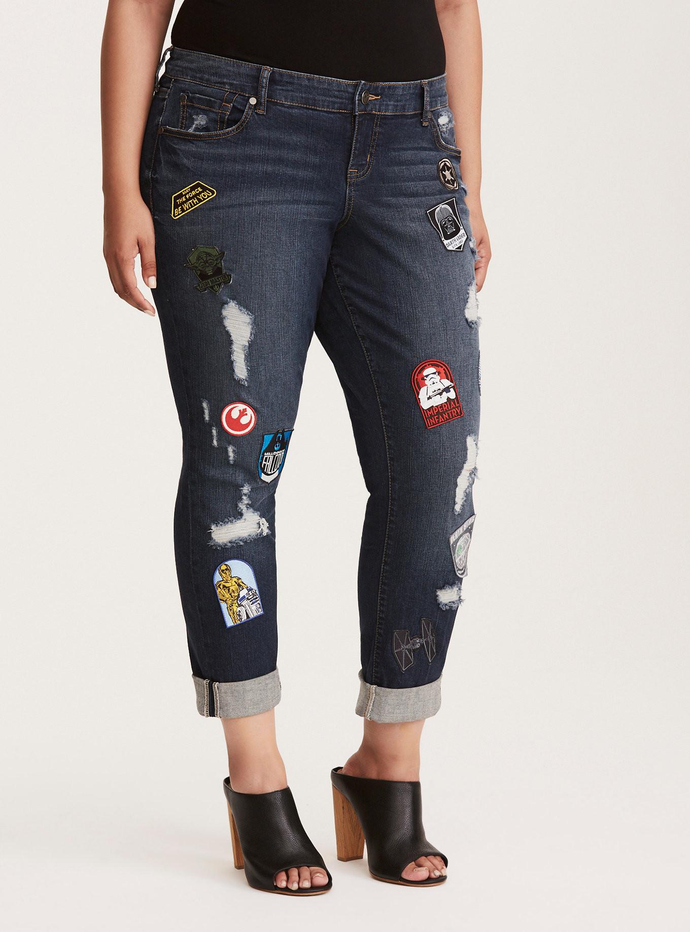 Women S Star Wars Patch Jeans At Torrid The Kessel Runway