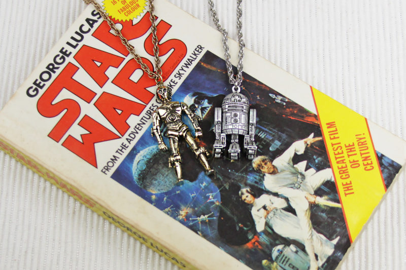 Star Wars 1977 Weingeroff C-3PO and R2-D2 necklaces