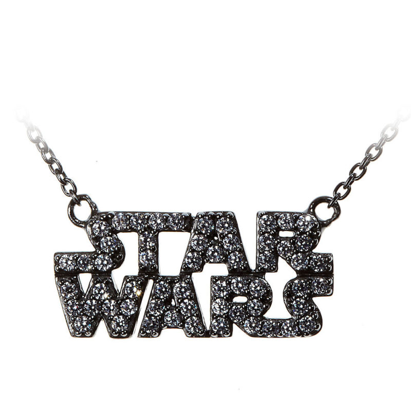 Star Wars Sterling Silver CZ logo necklace jewelry by Rebecca Hook at the Disney Store