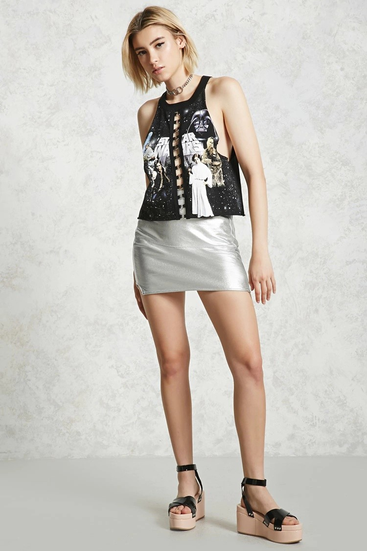 Women's Star Wars ring ladder front tank top at Forever 21