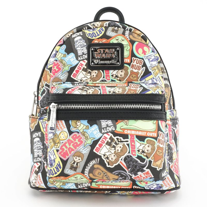 Loungefly x Star Wars Kawaii Sticker Mini Faux Leather Backpack