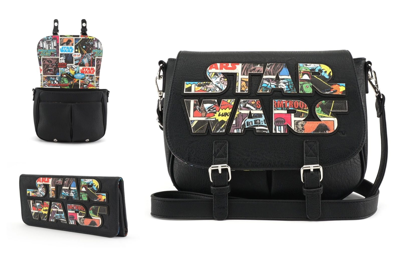 New Loungefly Comic Logo Crossbody Bag