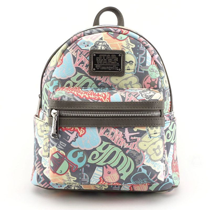Loungefly x Star Wars Pastel Sticker Mini Faux Leather Backpack