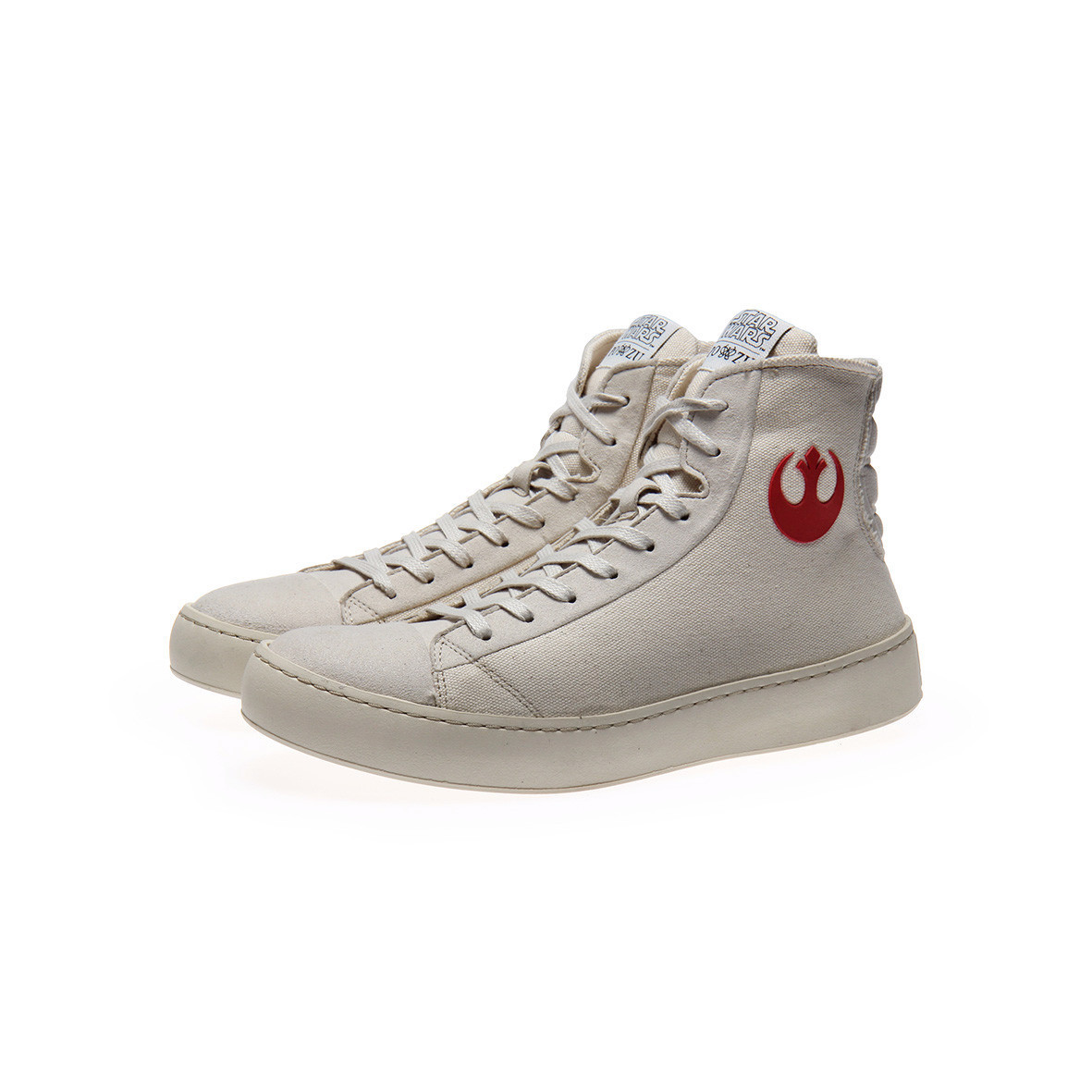 Po-Zu x Star Wars women's The Force Awakens Resistance sneakers (off white version)