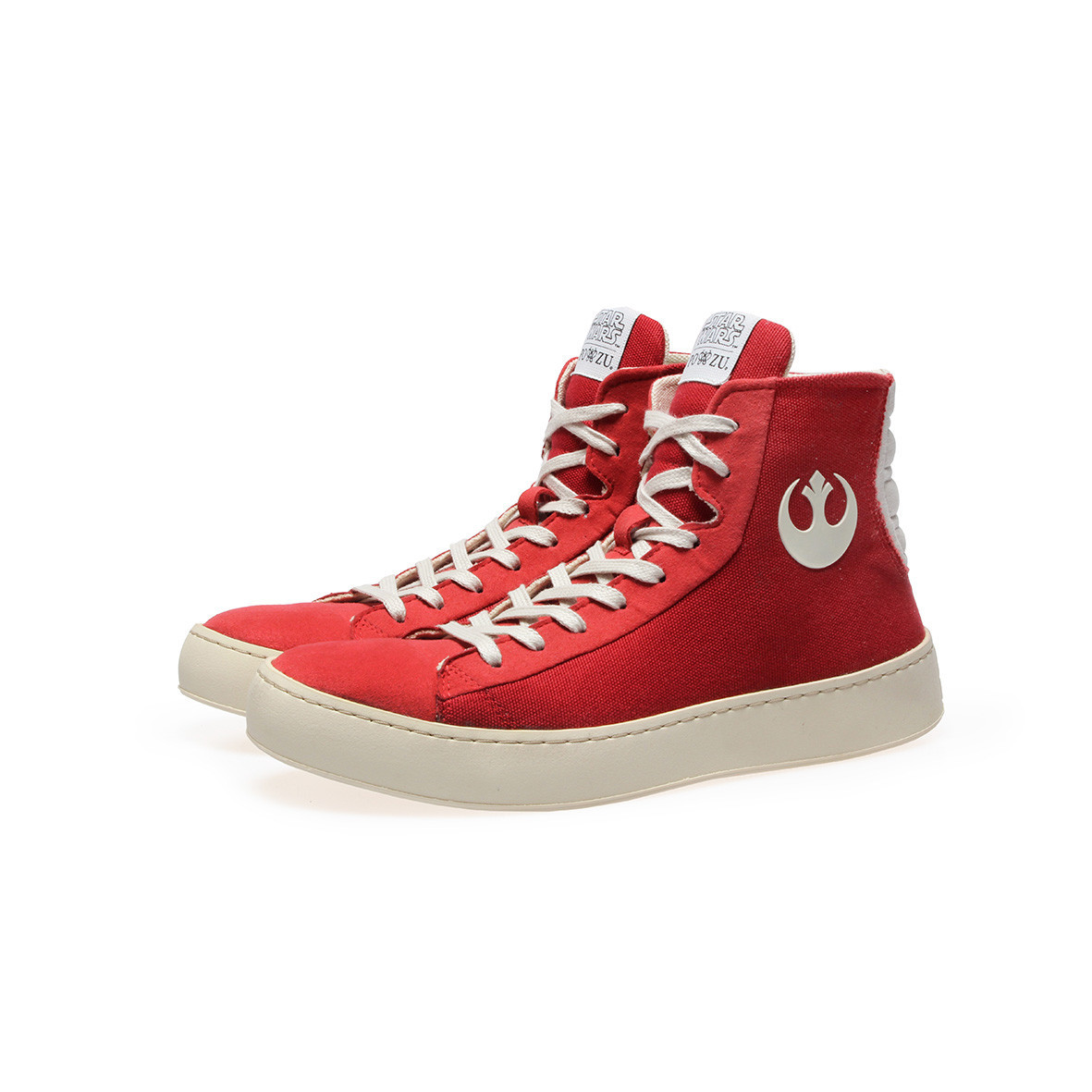 Po-Zu x Star Wars women's The Force Awakens Resistance sneakers (red version)
