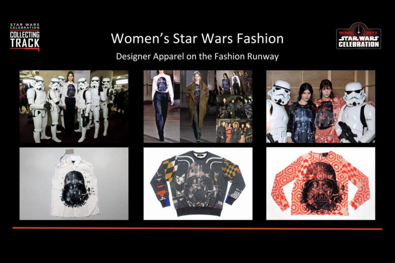 Designer apparel on the fashion runway
