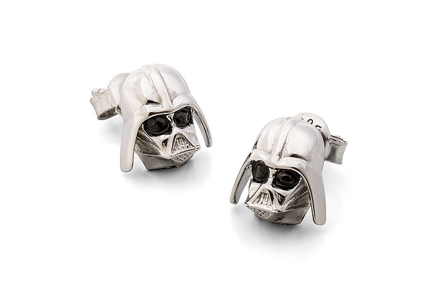 Sterling Silver Darth Vader Earrings